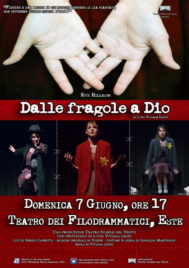 """""""Etty Hillesum. Dalle fragole a Dio"""" - spettacolo teatrale di e con Viviana Leoni"""